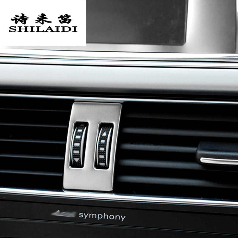 14cba3b7c5a Car Styling AC Outlet Trim Refit Air Outlet Frame dashboard Stickers Covers  for Audi A4 B8