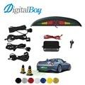 Digitalboy 12V Car Parking Sensor with 4 Sensors LED Backlight Display Reverse Backup Car Parking Radar Monitor Detector System