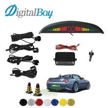 Digitalboy 12 В Автомобиля Датчик Парковки с 4 Датчиками СВЕТОДИОДНЫЙ Подсветка Дисплея Обратный Резервный Радар Парковки Монитор Детектора Системы