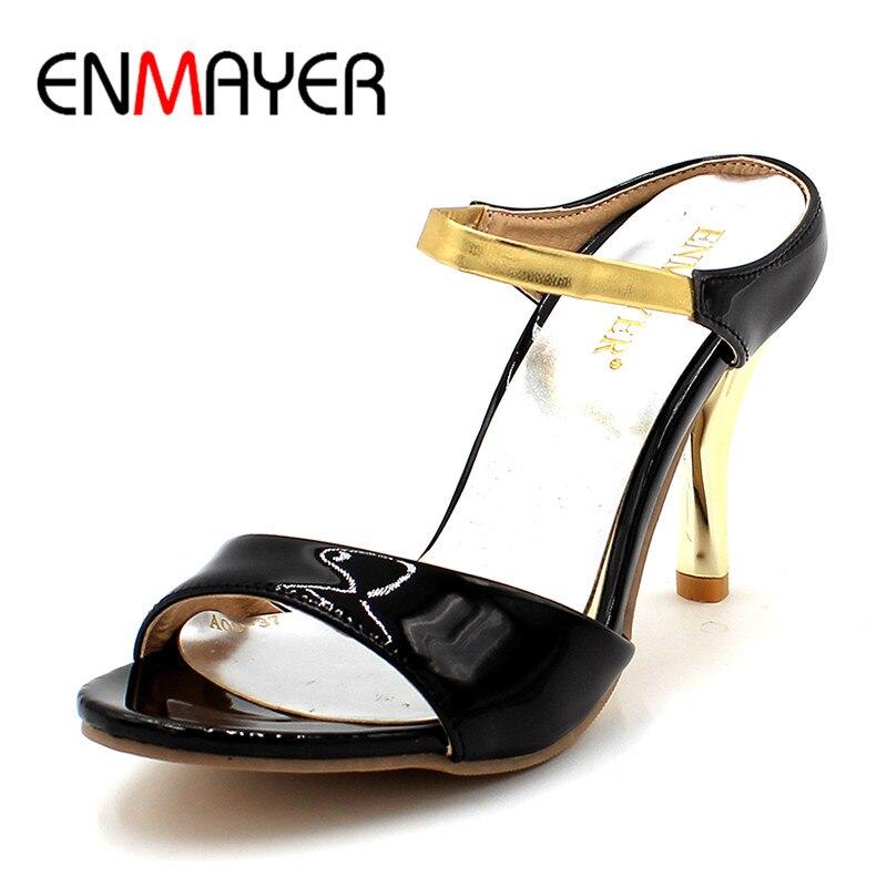 ENMAYER High heeled Sandals Sweet Fashion Banquet Wedding Sandals Platform High Heel Slipper Women Slippers Summer