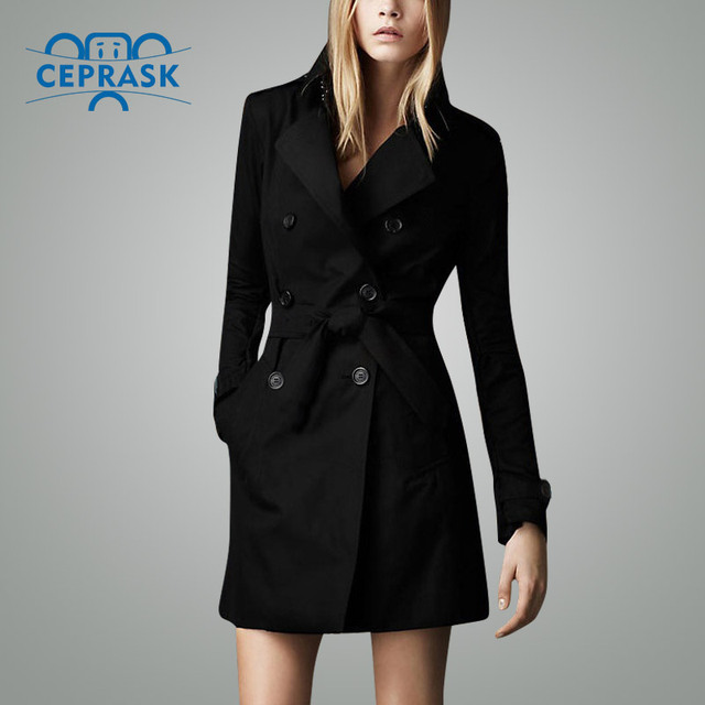 2018 Venta caliente otoño marca impermeable Casual gabardina para mujer talla grande largo doble rompevientos abrigos