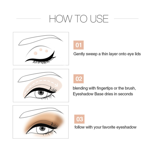 Sequin Glitter Primer Eyeshadow Pigment Cream Face Lip Eye Makeup Primer Cream SSwell 3