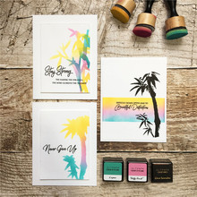 Naifumodo Bamboo Metal Cutting Dies Coconut Tree Stamps and Scrapbooking For Making Card Decorative Embossing Craft Stencil