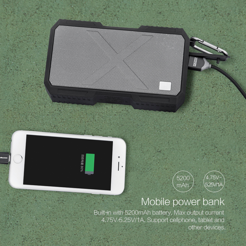 Nillkin Battery Charger Bluetooth Speaker Portable Waterproof Outdoor Speakers Power Bank for iPhone Xiaomi IOS Music Speaker