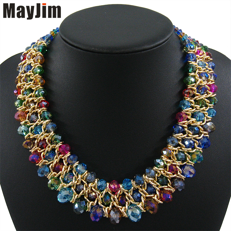 MayJim Statement necklace fashion women 2019 vintage choker collar gold chain chunky bead crystal necklaces & pendants JewelryMayJim Statement necklace fashion women 2019 vintage choker collar gold chain chunky bead crystal necklaces & pendants Jewelry