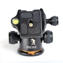 beike BK-03 Aluminum Alloy Tripod ball head / With Quick Release Plate &Two levels &1/4 screw Maximum Load 8KG For Benro