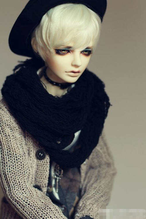 Handsome White short Wig BJD for 1/4 MSD 1/3 SD13 Uncle Doll Wig HM25 new 1 3 22 23cm 1 4 18 18 5cm bjd sd dod luts dollfie doll orange black short handsome wig