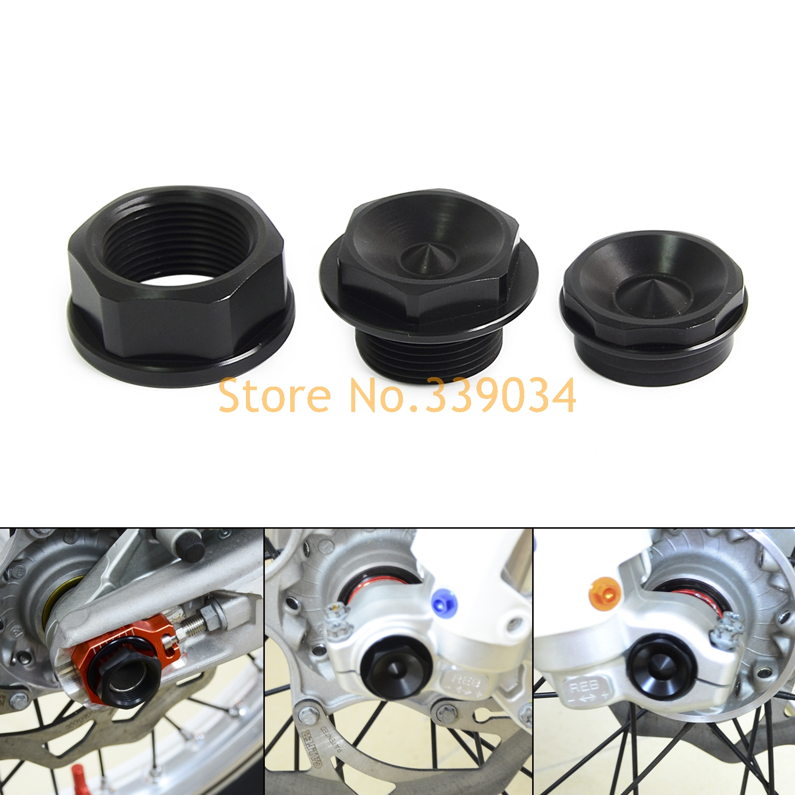Front Left & Right Wheel Spindle Collar Screw Bolt  For KTM SXS SX EXC XC-W SX-F XC  125 200 250 300 350 400 450 500 525 530 690 motorcycle dirt bike enduro off road rim wheel spoke skins for ktm 50 65 85 sx sx f 300 450 exc f six days 450 500 250 exc f 530