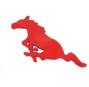 Image 3 - Para Ford Mustang accesorios de estilo de coche 3D Auto pegatina Metal corriendo caballo parrilla delantera parrilla capota del camión emblema insignia