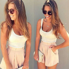 Lanxirui Womens Holiday Mini Casual Playsuit Ladies Sleeveless Jumpsuit Summer Beach Tops Shorts Sexy Romper Trousers