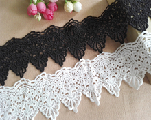 9cm Wide DIY Water Soluble Embroidery Lace Trim Fabric Clothing Clothes Neckline Skirt Hem Luxury Accessories Sewing Decoration цена