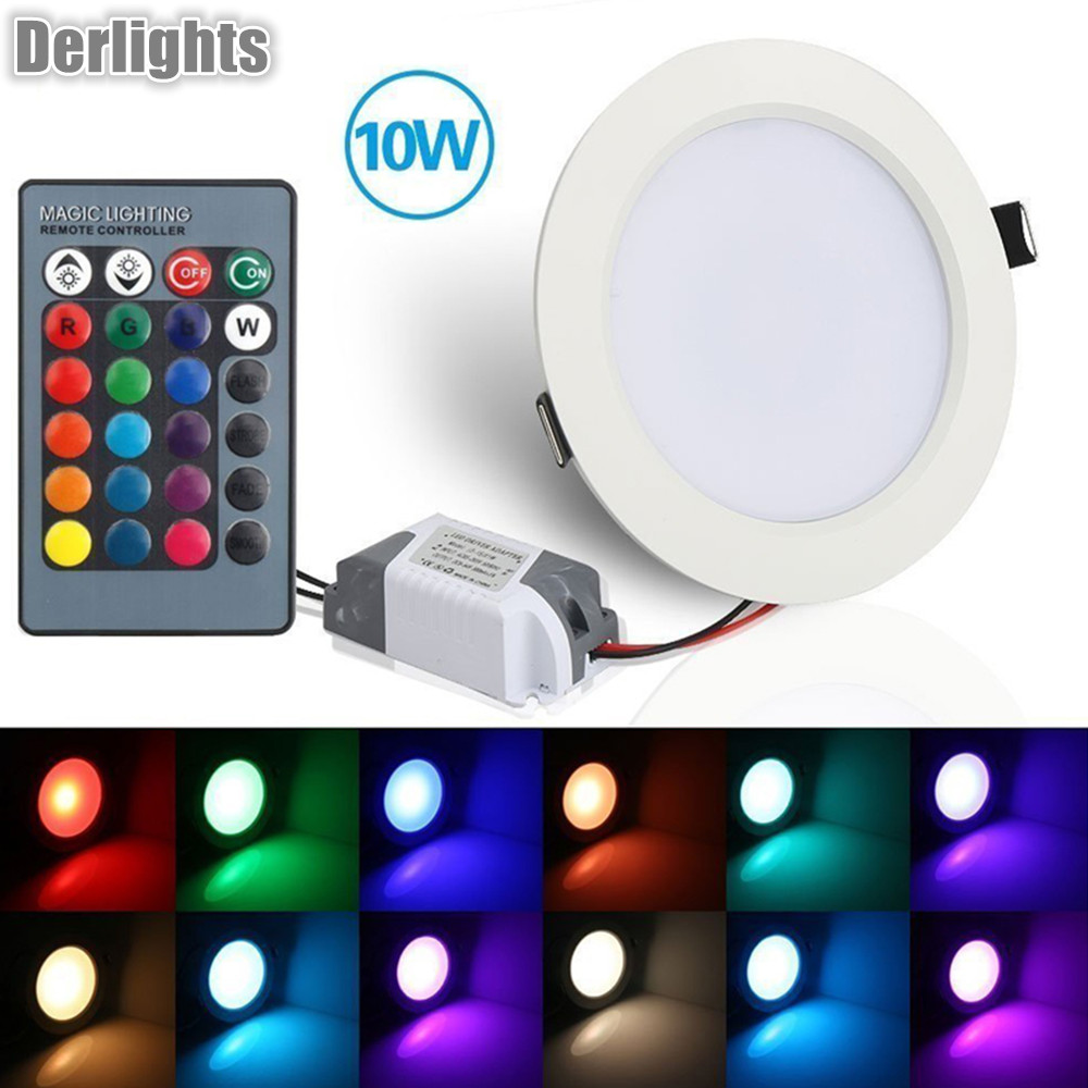 Baru Tiba 5W / 10W RGB Led Panel Pencahayaan Downlight AC110 / 220V Pencahayaan Indoor