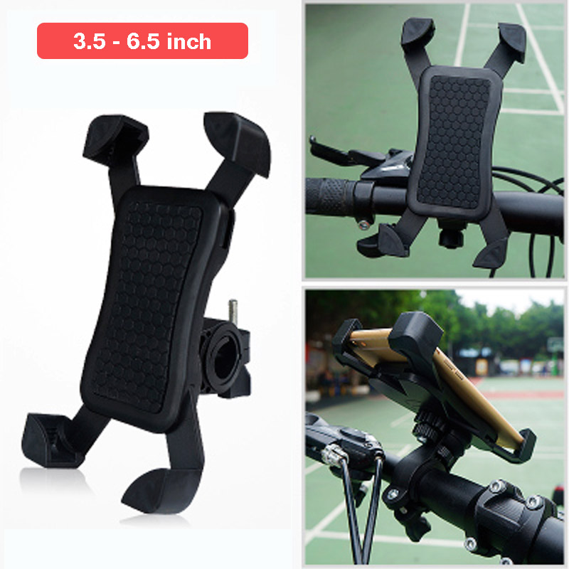 Universal Bike Bicycle Phone Holder 360 Rotating Phone Stand Mount for iPhone X 6 7 8 Plus Samsung S6 S7 Edge S8 S9 Plus Mi 5 6