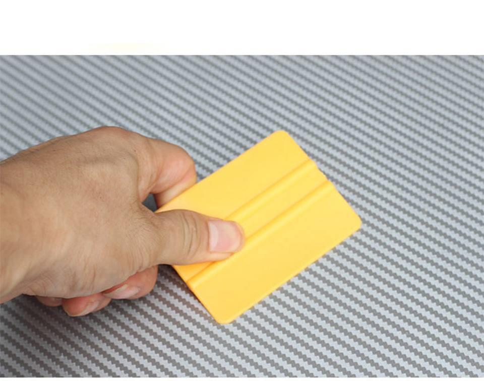 """Image 5 - Mini Squeegee Yellow 3"""" x 2.1"""" Vinyl Car Vehicle Graphic Application Wrap Tool QG 08-in Car Stickers from Automobiles & Motorcycles"""