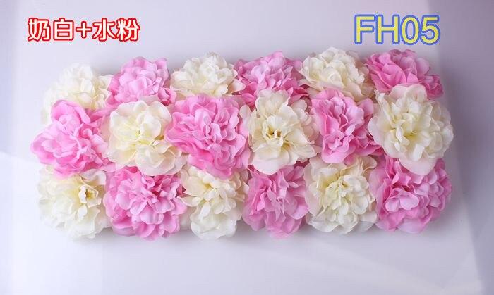 Свадебные композиция свадебные искусственные шелковые свадебные розы арки цветок Свадебные украшения цветок ряд цветок кадр 10 шт./лот - Цвет: FH05
