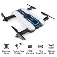 INKPOT WIFI FPV Selfie Drone JJRC H61 720P Camera Drone Optical Flow Positioning 6 Axis Foldable RC Quadcopter