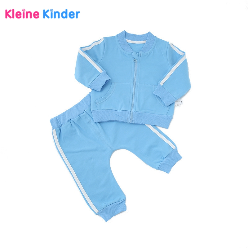2018 Autumn baby boy clothes baby clothing set fashion solid cotton long-sleeved coat+pants sets Newborn baby girl 2pcs Outfits 2pcs set baby clothes set boy