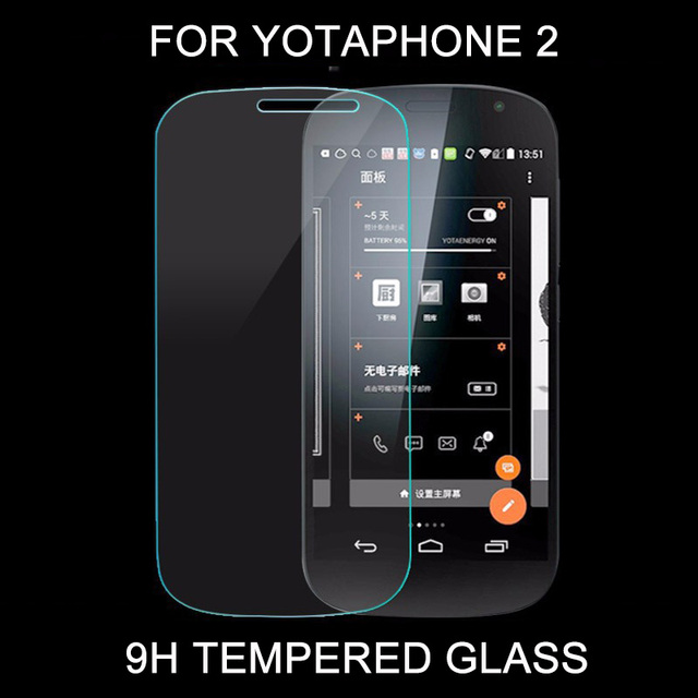 100pcs/lot For YotaPhone 2 Tempered Glass Explosion Proof Screen Protector HD High Quality Film 9H Strong Protect for Yota Phone