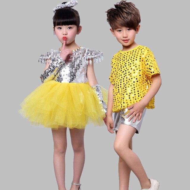 De los niños del Jazz Ropa de Danza Moderna de Hip-Hop Ropa Niños Niñas 8586cd8ac9c