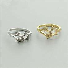 10PCS/lot 2018 Fashion Wholesale Gold Finger Ring Women CZ Star Jewelry BFF Gifts Bague Bijoux Femme