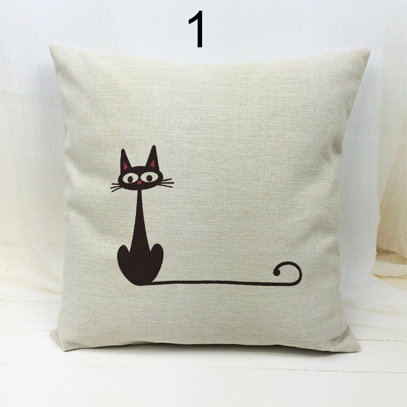 Black Cat Decorative Throw Pillow Covers