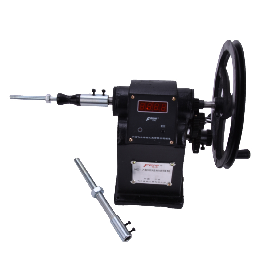 цены 1pcs new Manual Hand Coil Counting Winding Winder Machine for thick wire 2.5mm