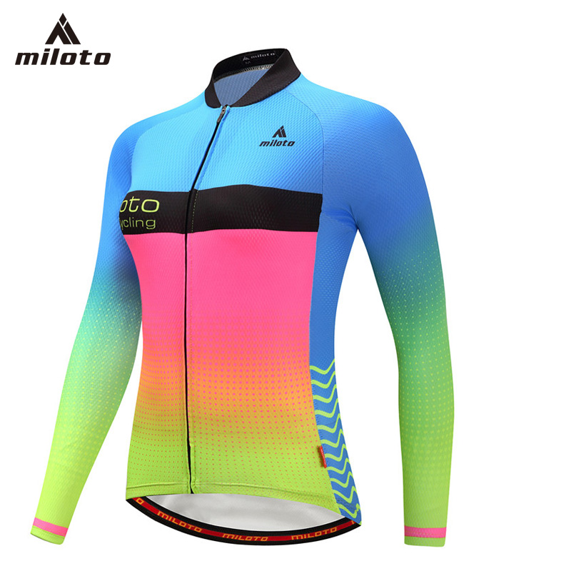Womens Spring/Autumn Long Sleeve Cycling Clothing Quick Dry Bicycle Clothes Ropa Ciclismo Mujer Bike Riding Wear Cycling Jersey