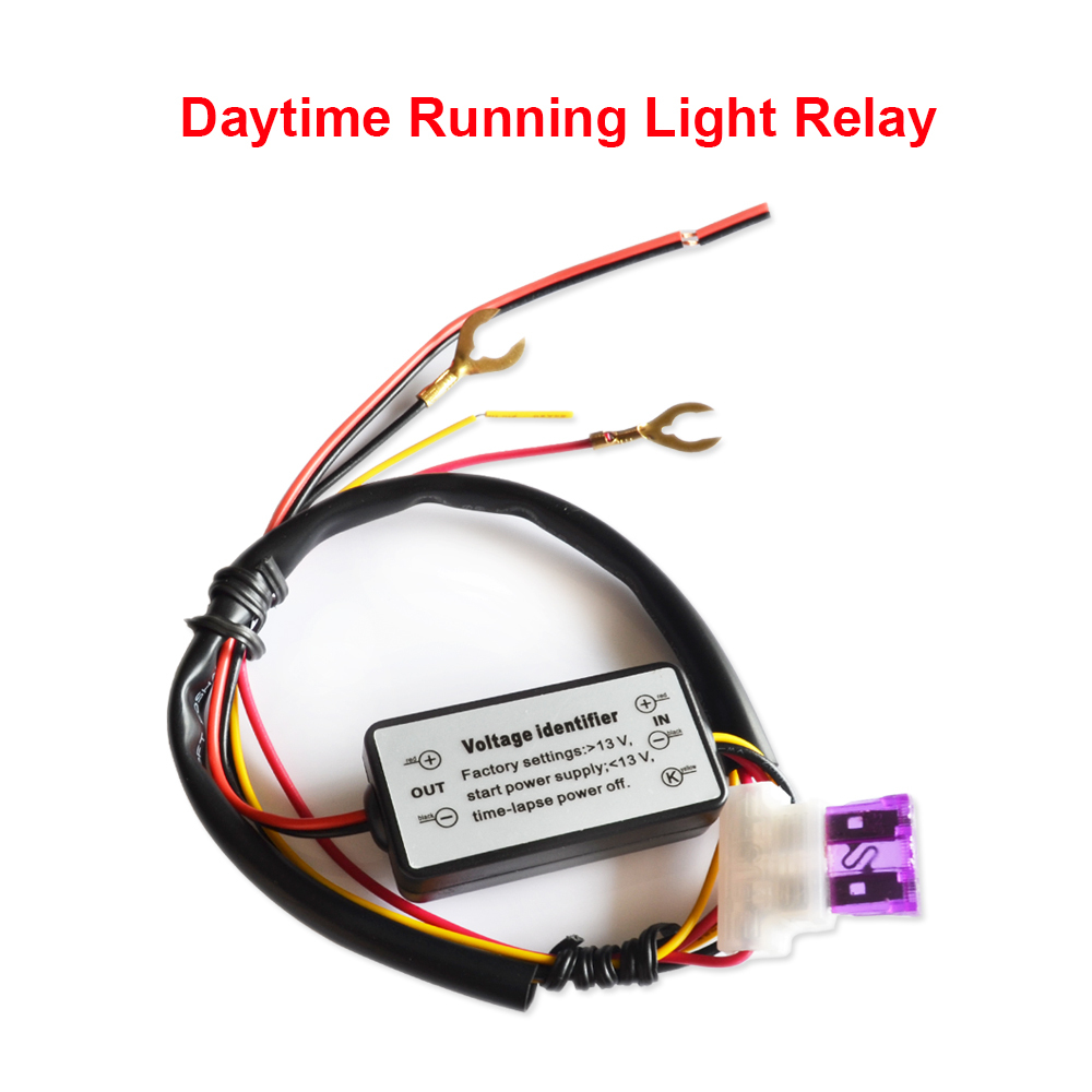 Car Led Drl Relay Daytime Running Light Harness Auto Fog Wiring Controller On Off Switch Parking Styling