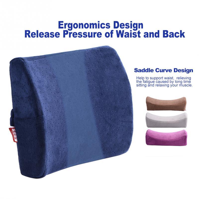 Бархат назад Поддержка подушка отскок пены памяти подушки автомобильное кресло Заднем Сиденье остальные подушки эргономичной задней тали...