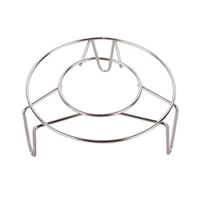 Home Kitchen Cooking Stainless Steel Round Cooker Steamer Rack Stand 15*4.5cm
