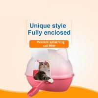 Крытый кошек животное лоток Туалет Training Пластик котенок лоток Cat Туалет Обучение Pet асэо Gato чистый продукт Животные код 90Z2086