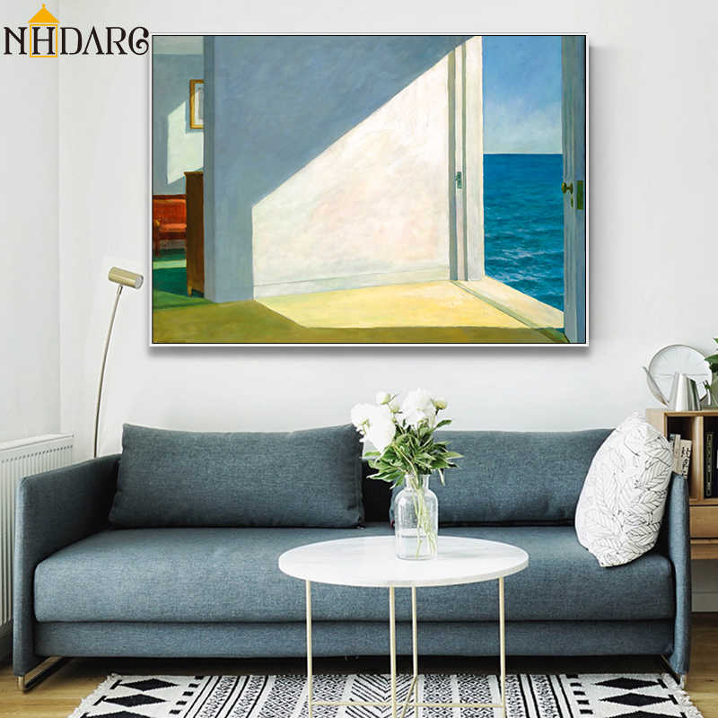 Rooms by The Sea Landscape Artwork Reproduction Canvas Print Painting Poster Art Wall Pictures For Living Room Home Decor