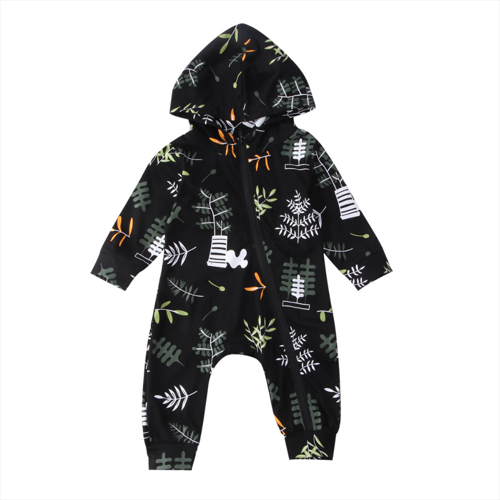 4d3b4080e0f87 Best buy Baby explosion models hooded floral tree printing long sleeve  cotton Rompers Jumpsuit Outfit children clothes online cheap