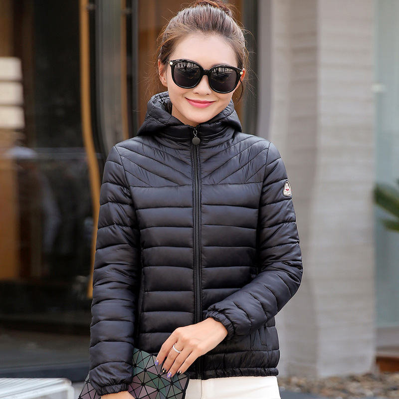 women ladies   parkas   coats jackets 2019 autumn winter plus large size warm fitness short cotton clothing hooded black