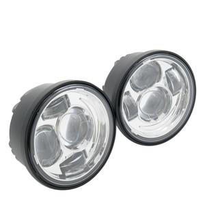 Image 4 - For  Davidson Dyna Fat Bob Black 4.65 inch Motor Style Head Lights for FXDF Dyna Fatbob Led Motor Projector