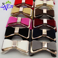 5 colors 1 pair charm crystal bow shoe clip fabric flower accessories B380