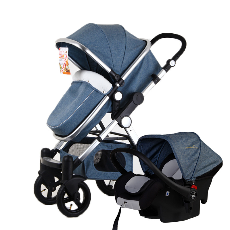 Baby Stroller 3 In 1 High View Luxury Baby Infant Carriage Stroller with Car Seat Baby Cart Car Travel System Cradle Pram Buggy все цены