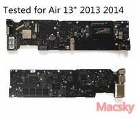 Тестирование A1466 материнскую плату для MacBook Air 13 A1466 материнская плата 2013 2014 i5 1,3 ГГц 1. 4G Гц i7 1,7 ГГц 2015 1,6 ГГц 4G 8G RAM