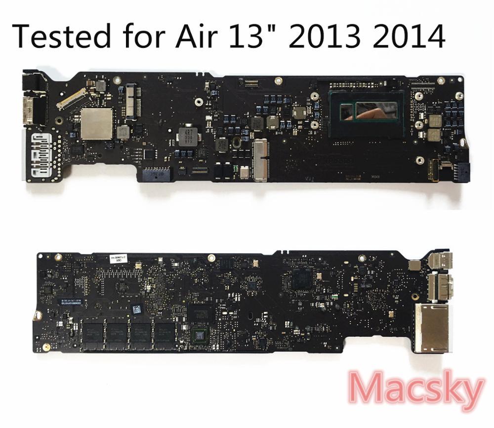 Testé A1466 carte logique pour MacBook Air 13 A1466 Carte Mère 2013 2014 i5 1.3 ghz 1.4 ghz i7 1.7 ghz 2015 1.6 ghz 4g 8g RAM