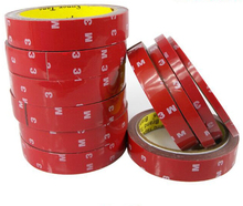 2pcs Tape 6/8/10/15/20/25 mm Adhesive Double Sided Sticker Acrylic Automotive Vehicle Foam