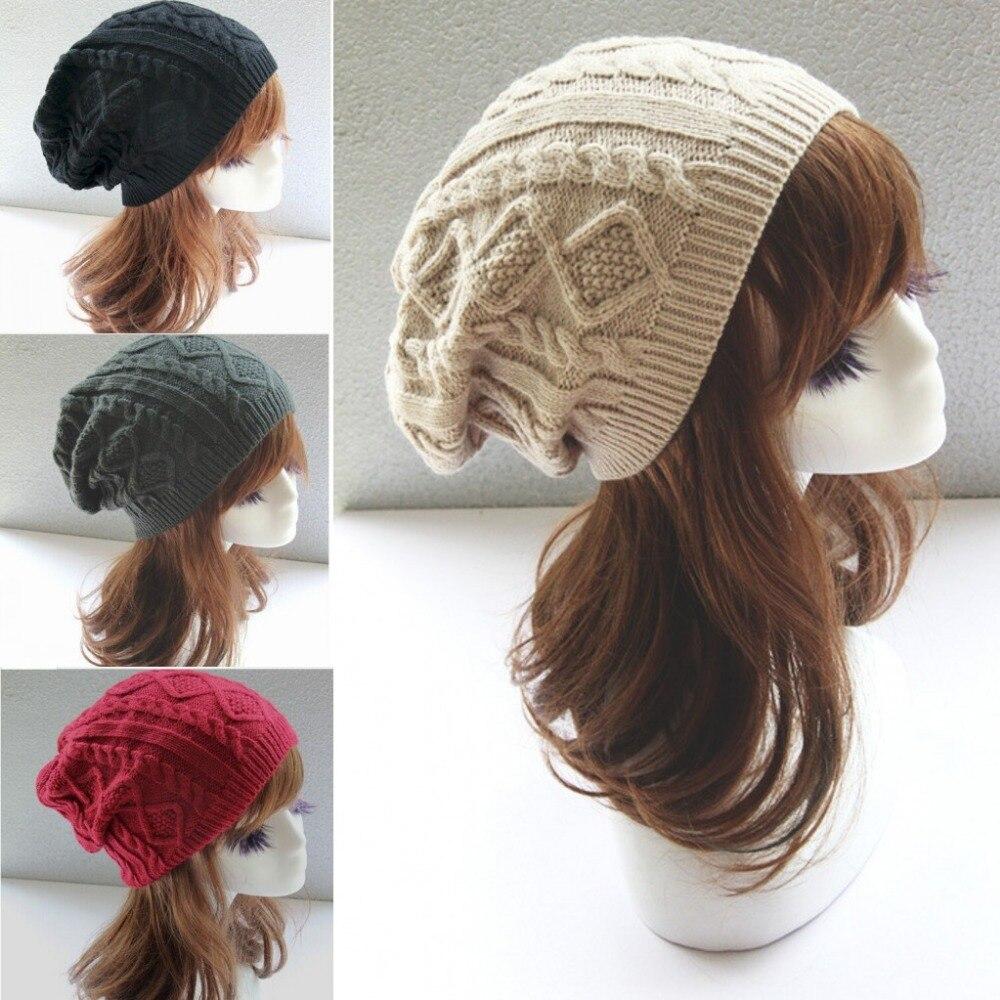 Aliexpress.com Comprar Moda Cap mujeres hombres gorro de lana femenina giro mujeres sombreros de invierno para mujeres turbante Skullies gorrita tejida