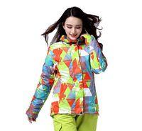 Новый человек лыжная куртка Водонепроницаемый супер теплый Лыжный спорт куртка для снежной погоды женские высококачественные зимние сноу...