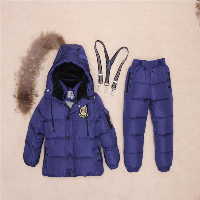 Piel Real ruso caliente niños ropa niñas abrigo de invierno abajo chaqueta  traje de nieve para niños traje de esquí al aire libre t09USD  64.44-69.05 piece 2ad5a96600bd8