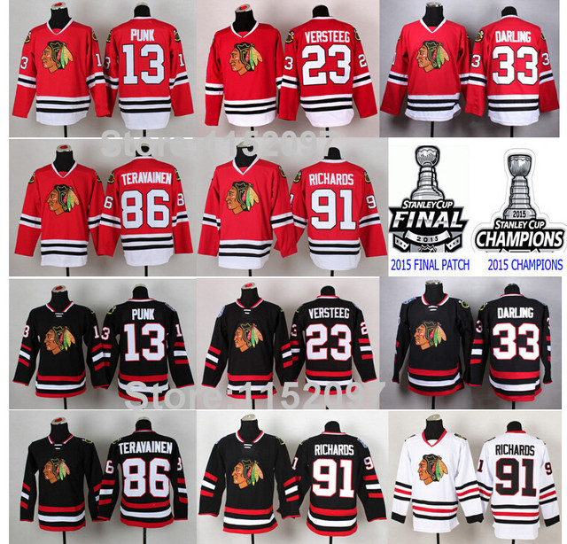 chicago blackhawks hockey jerseys 13 cm punk 23 kris versteeg 33 scott darling youth chicago blackha