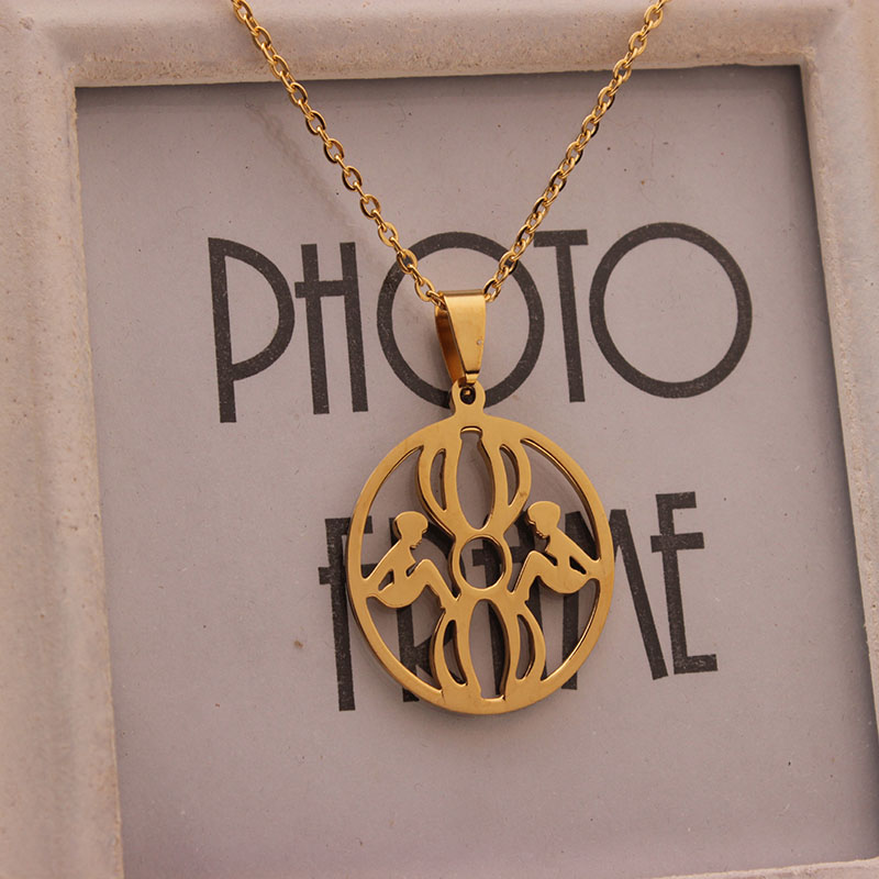 RDW Jewelry Latest Design Stainless Steel Gold Sister Necklace Two ...