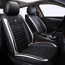Fundas de asiento delanteras y traseras para coche, de cuero PU, universales, aptas para TOYOTA Corolla RAV4 Highlander PRADO, Yaris Prius Camry Protector para asientos de coche