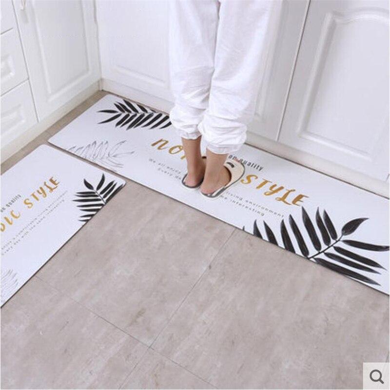 2018 nouveau moderne PVC doux cuisine tapis délicat maison tapis plancher porte tapis pour salon chambre couloir zone tapis maison