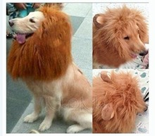 Fashion Dog Big Pets Wig Collar Funny Lion Pet Costume Cosplay Lion Mane Wig Cats Hairpiece Fake Lion Mane FreeShipping