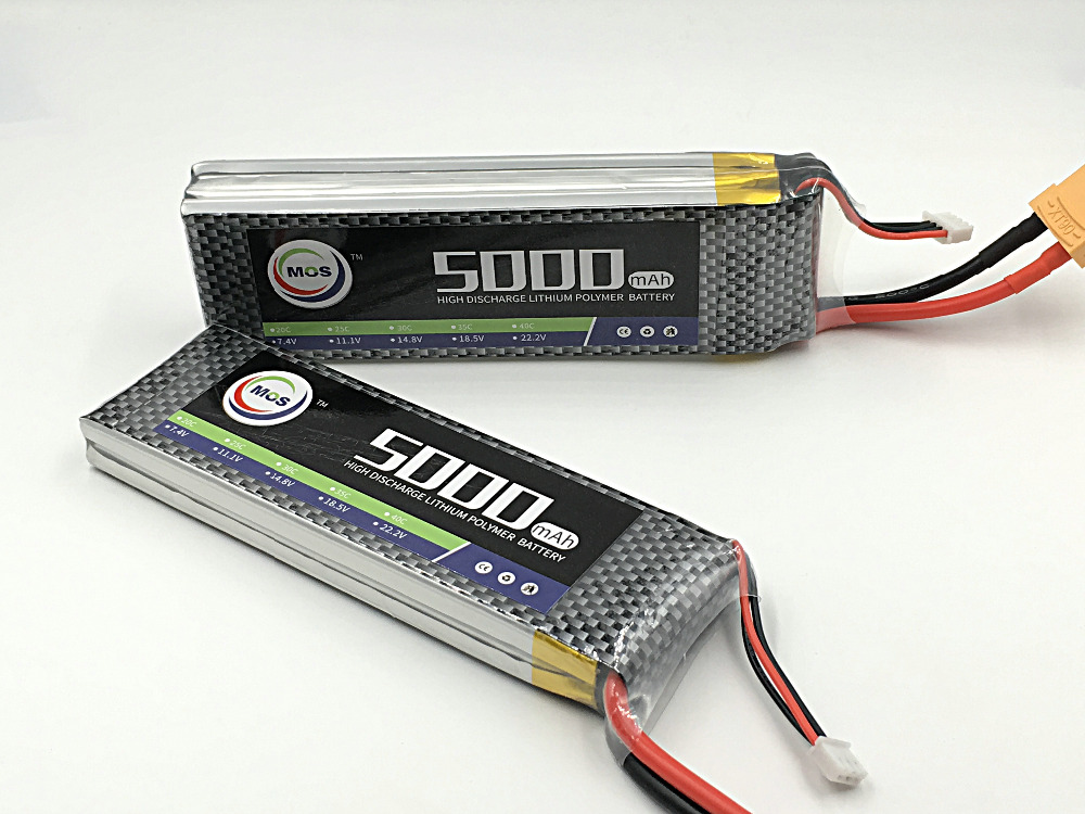 MOS RC 3s lipo battery 11.1v 5000mah 35c for rc airplane rc helicopter free shipping 1s 2s 3s 4s 5s 6s 7s 8s lipo battery balance connector for rc model battery esc