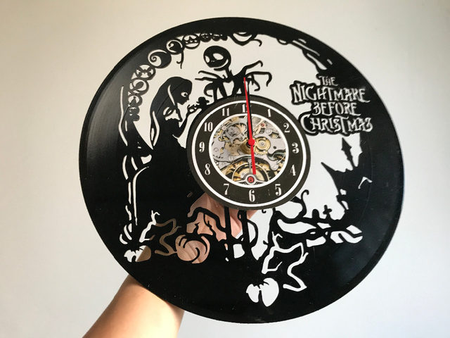 the nightmare before christmas vinyl record wall clock decorate your home with modern art gift for kids girls and boys